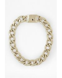 French Connection Chunky Curb Chain Necklace - Lyst