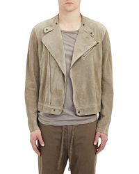 Tomas Maier Suede Moto Jacket - Lyst