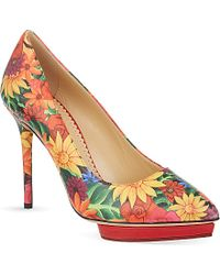 Charlotte Olympia Debbie Floral Court Shoes - Lyst