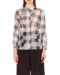 Jil Sander Checked Silk-Blend Shirt - For Women - Lyst