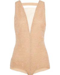 Vionnet Ruched Silk-Organza Bodysuit - Lyst