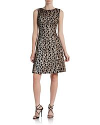 Kay Unger Sleeveless Dot Lace Dress - Lyst