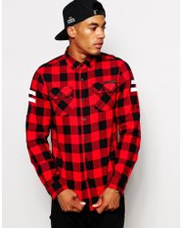 Criminal Damage - Jack Check Shirt With 47 Back Print - Lyst