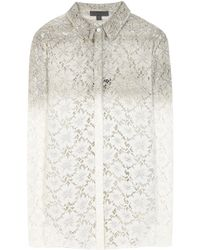 Burberry Prorsum Lace Shirt - Lyst