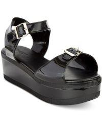 56b9891615f Wanted - Gumdrop Flatform Jelly Sandals - Lyst