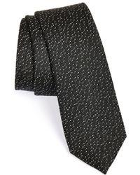 Calibrate 'Metallic' Textured Silk Tie - Lyst