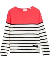Chinti And Parker Block and Stripe Sweater in Pop - Lyst