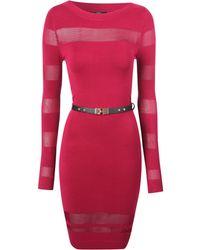 Jane Norman Belted Jumper Dress - Lyst
