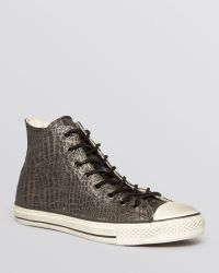 Converse By John Varvatos All Star Reptilian Leather High Top Sneakers - Lyst