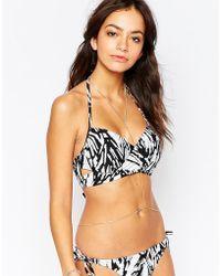 First & I | Cross Back Detail Bikini Top | Lyst