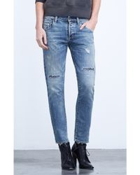 Citizens of Humanity Corey Slouchy Slim Crop In Renegade blue - Lyst