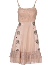 Odd Molly Pink Short Dress - Lyst