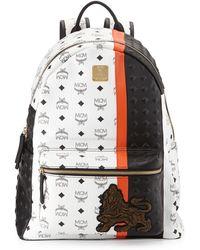 MCM - Munich Lion Canvas Backpack - Lyst
