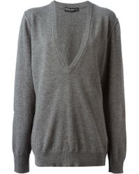 Dolce & Gabbana Loose Fit Sweater - Lyst