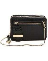 Halston - Mini Double Zippy Wallet Cameo - Lyst