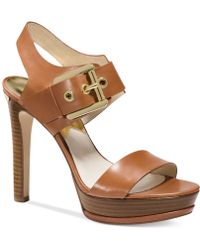 Michael Kors Michael Becca Platform Sandals - Lyst