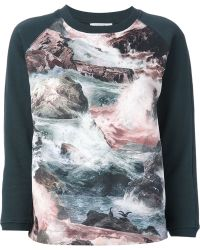 Carven Sea Print Sweatshirt - Lyst