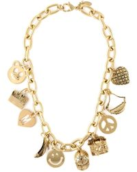 Moschino Charm Necklace - Lyst