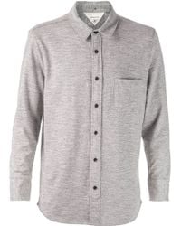 Rag & Bone Gray Jersey Shirt - Lyst