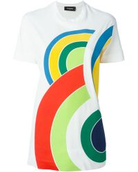 DSquared² Printed T-Shirt multicolor - Lyst