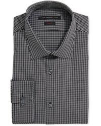 John Varvatos Longsleeve Check Poplin Shirt - Lyst