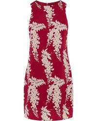 Oasis Oriental Shift Dress red - Lyst