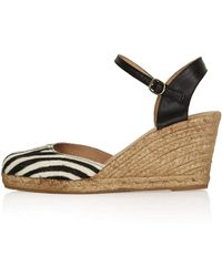 Topshop Whitby Square Toe Wedges - Lyst
