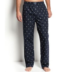 Ralph Lauren All Over Polo Player Pajama Pants - Lyst