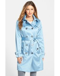 London Fog Heritage Satin Double Breasted Trench Coat - Lyst