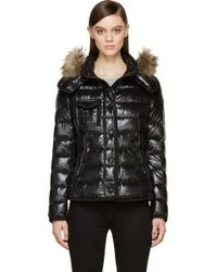Moncler Black Lacquered Nylon Hooded Armoise Jacket - Lyst