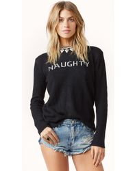 For Love And Lemons Little Miss Naughty Sweater - Lyst