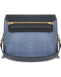 Chloé Clare Medium Python Shoulder Bag Street Blue - Lyst