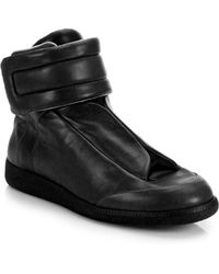 Maison Margiela Future Leather High-Top Sneaker - Lyst