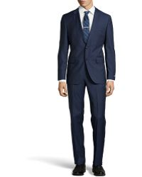 Hugo Boss James Check Twopiece Suit Dark Blue 44r - Lyst