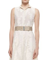 Lafayette 148 New York - Leather Belt With Chain Detail - Lyst