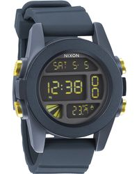 Nixon Unit Steel Blue And Yellow Watch gray - Lyst