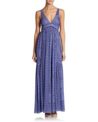 Missoni Printed V-Neck Maxi Dress - Lyst