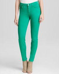 Jen7 - Jeans - Skinny In Kelly Green - Lyst