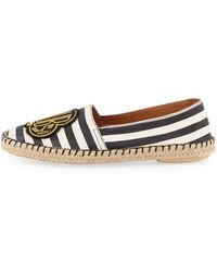 Marc By Marc Jacobs Clubs Striped Canvas Espadrille Flat - Lyst