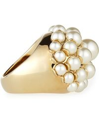 St. John - Signature Pearly Cocktail Ring - Lyst