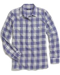 Madewell Market Popover in Bluestem Plaid - Lyst
