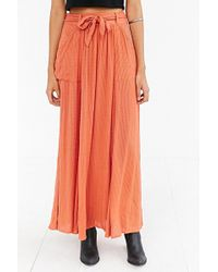Ecote - Rustic Maxi Skirt - Lyst