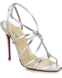Christian louboutin Millaclou Studded Leather Cage Sandals in ...