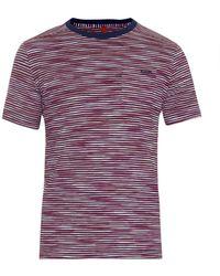 Missoni Striped Cotton-Jersey T-Shirt - Lyst