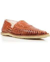 TOMS Huarache Woven Leather Loafers - Lyst