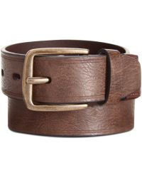 Levi's Cut Edge with Logo Leather Wrap Belt - Lyst