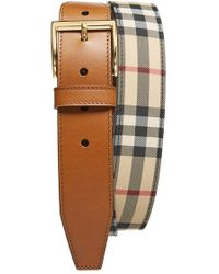 Burberry 'Cleydon' Horseferry Check Belt brown - Lyst