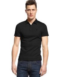 Vince Camuto Black Slimfit Polo - Lyst