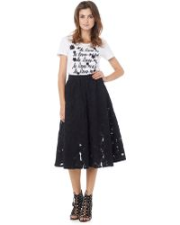 Sam Edelman Embroidered Midi Skirt - Lyst