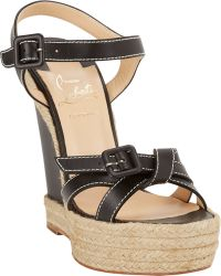 Christian Louboutin Zero Problem Espadrille Wedge Sandals - Lyst